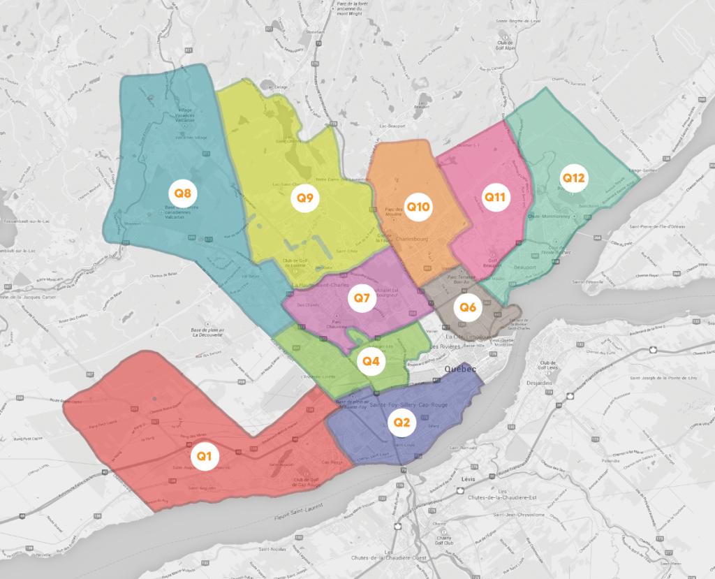 Carte région Québec